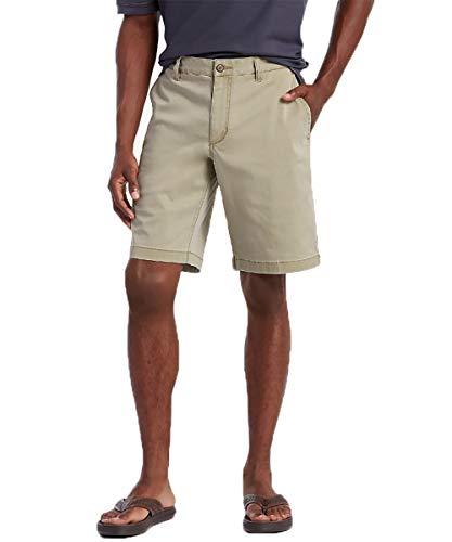 (Tommy Bahama Men's Boracay Flat-Front 10-Inch Shorts, Khaki, 36)