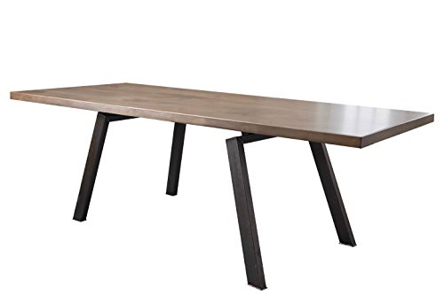 "Fulton Modern Rustic Industrial Dining Table (120"" L x 37"" W, Barn Wood Finish)"