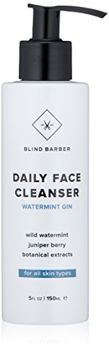 - Blind Barber Watermint Gin Face Wash - Cooling Gel Cleanser for Men, All Skin Types (5 Ounces, 150 Milliliters)