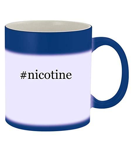 #nicotine - 11oz Hashtag Magic Color Changing Mug, Blue