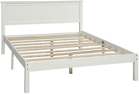 DERCASS Wood Platform Bed