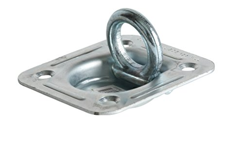 Bolt Recessed - D Ring Tie-Down Anchor (Large Square), Recessed Pan Fitting, Truck/Trailer/Flatbed/Pickup TieDown Anchor. NOT INCLUDED: Mounting Plate/Bolts