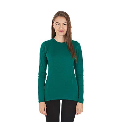 Minus33 Merino Wool Ossipee Women's Midweight Crew Emerald Green Medium
