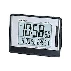 Casio Auto Calendar Thermometer Digital Travel Alarm Clock DQ980-1 Baterry Included
