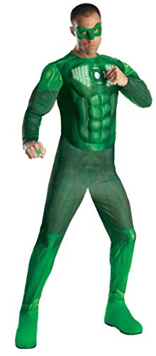 Green Lantern Deluxe Hal Jordan Costume With Light Up Muscle Chest, Green, X-Large -
