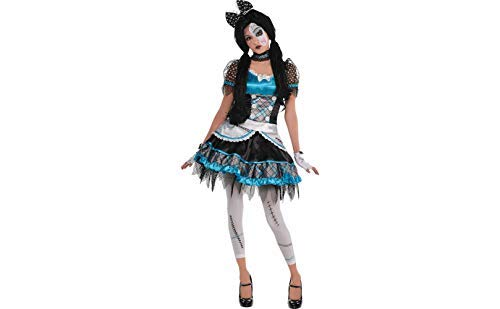 AMSCAN Shattered Doll Halloween Costume for Teen Girls, Small, with Included Accessories ()