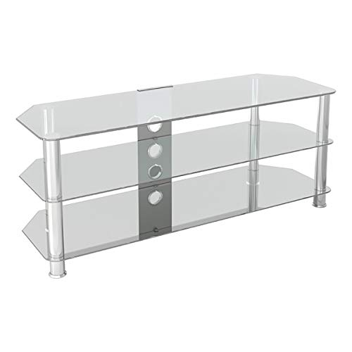 AVF SDC1250CMCC-A Classic - Corner Glass TV Stand  with Cabl