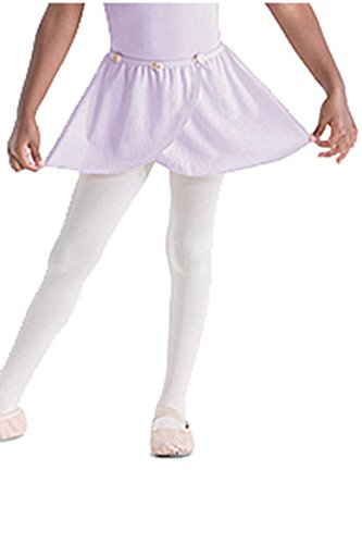 Motionwear Pull On Wrap Skirt (Child Large, Lavender)