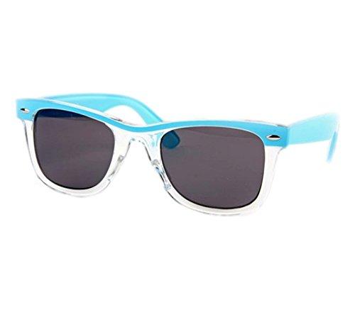 Retro Wayfarer Two-tone Baby Blue Fashion - Sunglasses Josie