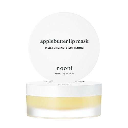 NOONI Applebutter Lip Mask 0.42 Ounces, Moisturzing lip care, Softening formula, Mineral oil free, Day&Night protect lip care, Rich lip balm, Ultra moisture, Peeling lips, Lip primer, Lip scrub (Lip Plumping Stain)