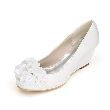 UK9 2 5 Party Pump EU43 Wedding Purple2In Ivory Wedding RTRY Wedge Spring Blue Heel Champagne US11 5 Flower Satin Basic Summer Shoes Ruby amp;Amp; Evening CN45 Women'S fSfw4R