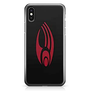 Loud Universe Star Trek Logo iPhone X Case Red Logo iPhone X Cover with 3d Wrap around Edges