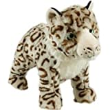 Sophia Snow Leopard Squeaky Dog Toy (Size: Large)