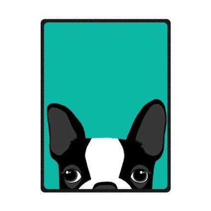 SENL Boston Terrier Art Custom Bed/Sofa Soft Throw Fleece Blanket 58X 80(Large) (Boston Terrier Throw)