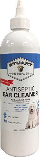 Stuart Pet Supply Co.. Antiseptic Ear Infection Treatment For Dogs-Veterinary Formulated-Veterinary Recommended For Head Shaking, Itching, Discharge & Smelly Ears 100% 12oz. by Stuart Pet Supply Co.