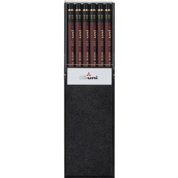 5 X Uni Hi-Uni Wooden Pencil - HB - Box of 12 (HUHB) by uni