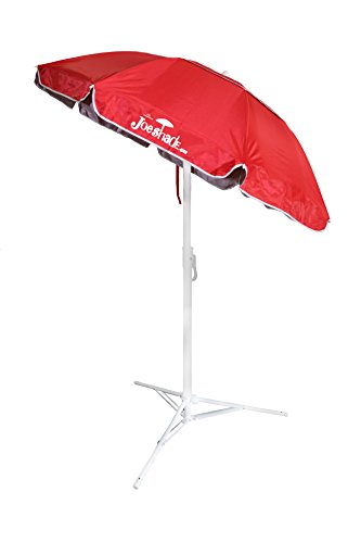 JoeShade, Portable Sun Shade Umbrella, Sunshade Umbrella, Sports Umbrella, RED