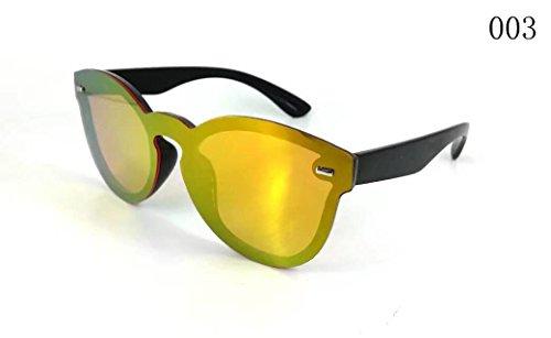 Soleil Miroir UV400 Or sans contre Lentilles Rond avec de Cadre Lunnettes gYq5p5