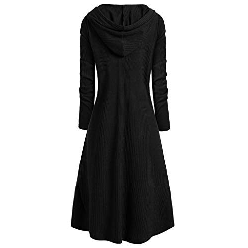 Long Hooded Jacket for Men Steampunk Gothic Wind Cloak Coat Tailcoat Victorian Cardigan Overcoat