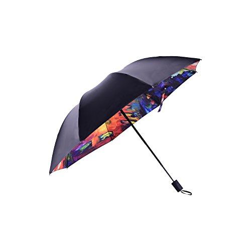 Designer Anti-UV/Windproof Umbrella, Vinyl Coated Canopy - UV/Sun Protection UPF 40+ Sun (Painting Vinyl Toys)