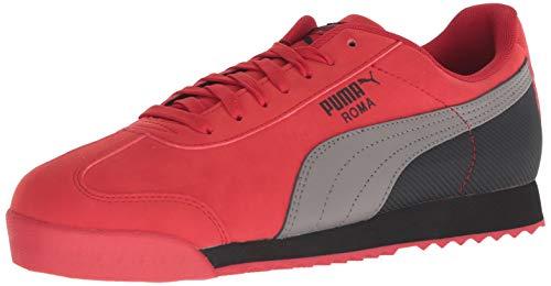 (PUMA Men's Roma Basic Sneaker, Ribbon red-Steel gra, 10 M US)