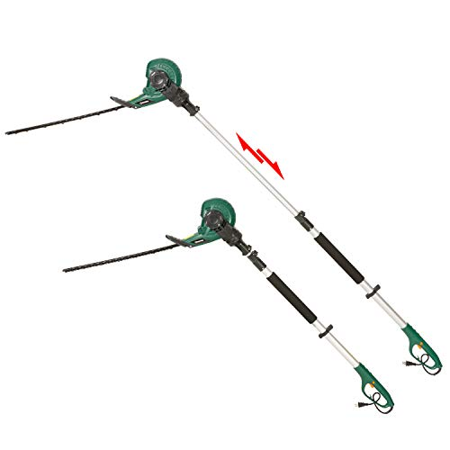 (DOEWORKS Corded 2 in 1 Multi-Angle Cutting Telescopic Electric Hedge Trimmer on Pole, 18