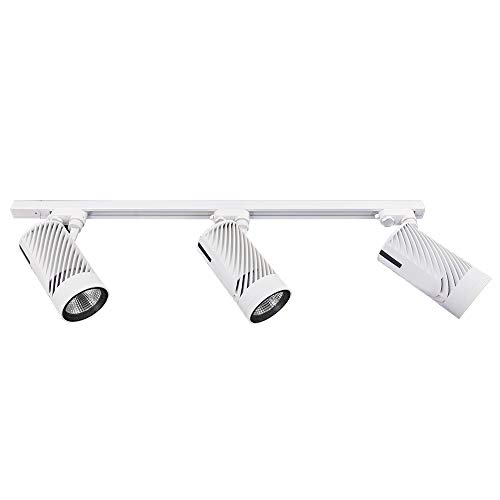 UPO Track Lighting Kit with 3-LED Light, Super Bright with 3000 Lumens 4000K High-end Commercial Track Lights, Advanced Material, Easy to Install, ETL & CTEL Certification, - Modern Light Three Track