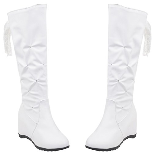 AIYOUMEI Women's Classic Boot White GruCEfC