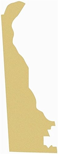 Delaware Cutout Unfinished Wood Home Decor Sports Themes Everyday Door Hanger MDF Shape Canvas Style 1 -