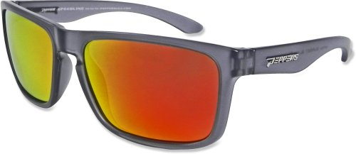 Pepper's Sunset Blvd Polarized Oval Sunglasses, Matte Crystal Grey, 58 mm