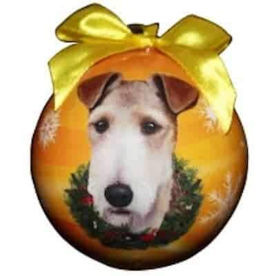 Wire Fox Terrier Personalized Ornament - (Unique Christmas Tree Ornament - Classic Decor for A Holiday Party - Custom Decorations for Family Kids Baby Military Sports Or Pets) ()