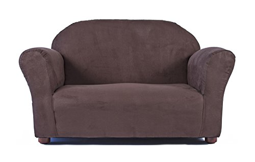 Keet Roundy Microsuede Children's Sofa, Brown