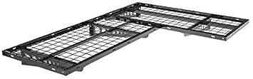 Black FLEXIMOUNTS 2-Pack 2x4ft Garage Storage Rack Corner Wall Shelf Floating Shelves 24-inch-by-48-inch