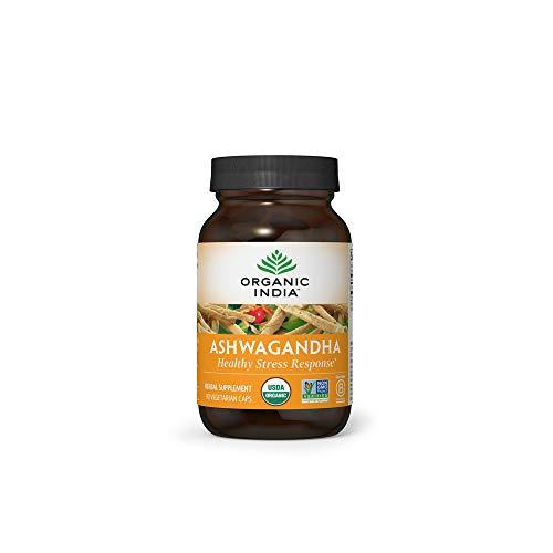 Organic India Ashwagandha Herbal Supplement – Stress Response Support, Vegan, Gluten-Free, Kosher, USDA Certified…
