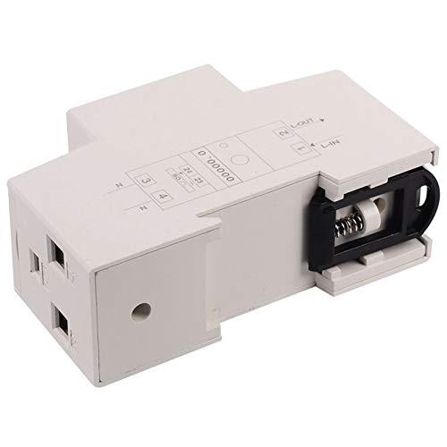 SODIAL Rail din Monophas/é Wattm/ètre Consommation Electrique en watts Compteur d/énergie Electronique kWh 5-80A 230V AC 50Hz avec Fonction de R/éinitialisation