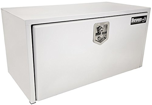 Buyers Products White Steel Underbody Truck Box w/T-Handle Latch (18x18x36 Inch) ()