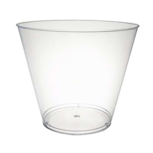 Party Essentials N980 Hard Plastic Party Cups/Tumblers, 9-Ounce Capacity, Clear (Case of -