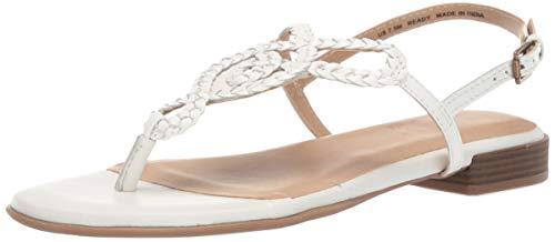 SOUL Naturalizer Women's READY Sandal, WHITE, 8 M US (Thong White Leather)