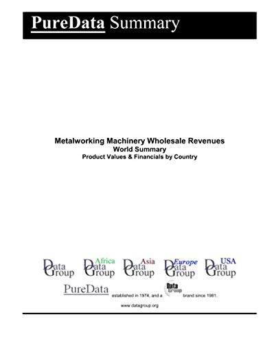 Metalworking Machinery Wholesale Revenues World Summary: Product Values & Financials by Country (PureData World Summary)