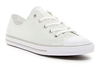 Converse Women's Chuck Taylor All Star Dainty OX Low Top Sneaker (5 B(M) US, Fiberglass/Mouse/White)