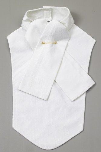 (Ovation Drilex Bib Stocktie - White Medium)