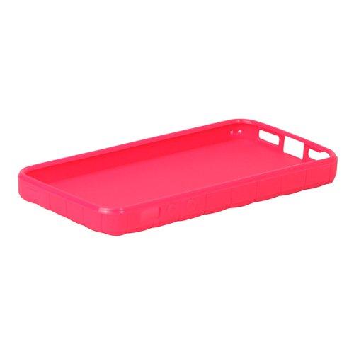 iProtect TPU Schutzhülle iPhone 5 / 5s Case Raute pink