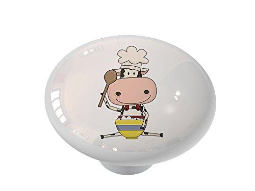Cow Baker Ceramic Drawer Knob