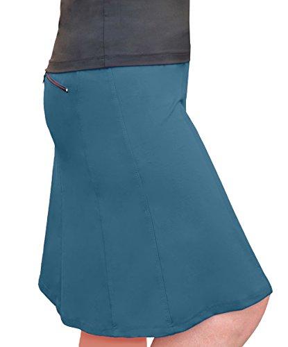 Skirt Jean Skort (Kosher Casual Women's Modest Knee-Length Swim & Sport Skirt with Built-in Shorts - Skort Style 3XL Jeans Blue)