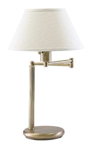 House of Troy D436-71 Home/Office Collection 23-1/2-Inch Swing Arm Desk Lamp, Antique Brass