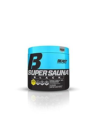 Beast Sports Nutrition – Super Sauna Black – Boost Metabolism – Burn Calories – Sweat Enhancer – Thermogenic Supplement – Zero Caffeine – Sweet Heat – 30 Servings
