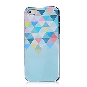 ZCL-Caso duro del patrón de triángulo colorido para el iphone 5 / 5s
