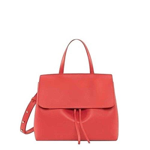 Frauen Einfaches Tasche Schultertasche Handtasche Leder Leder,Red-OneSize