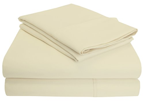 Blue Nile Mills 1200-Thread-Count Sheet Set, Cotton Rich, Queen, Ivory from Blue Nile Mills