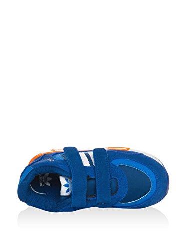 Adidas - Adidas ZX 850 CF I Zapatos Deportivos Niño Azul Cuero M19744 Azul / Naranja / Blanco